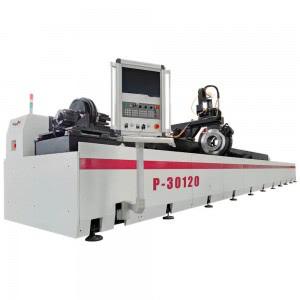 12m Length Stainless Steel Metal Pipe Tube Laser Cutting Machine P30120