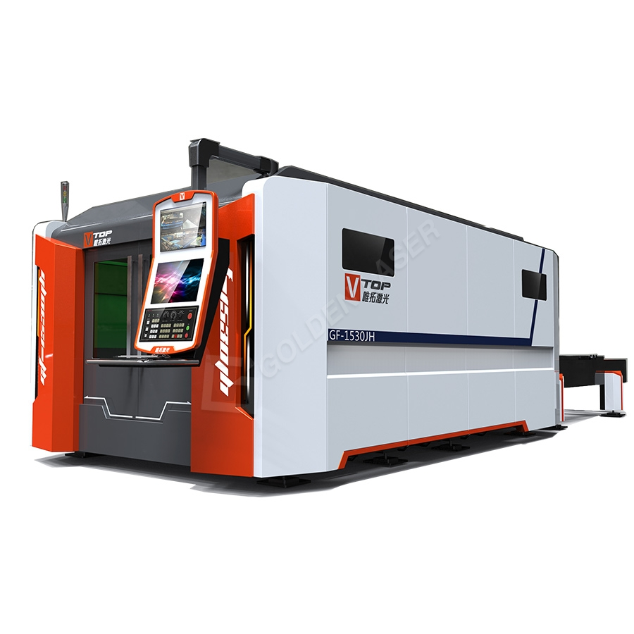 1500W 2500w Full Ditutup Pallet Tabel CNC Serat Laser Metal Machine Sheet Cutting