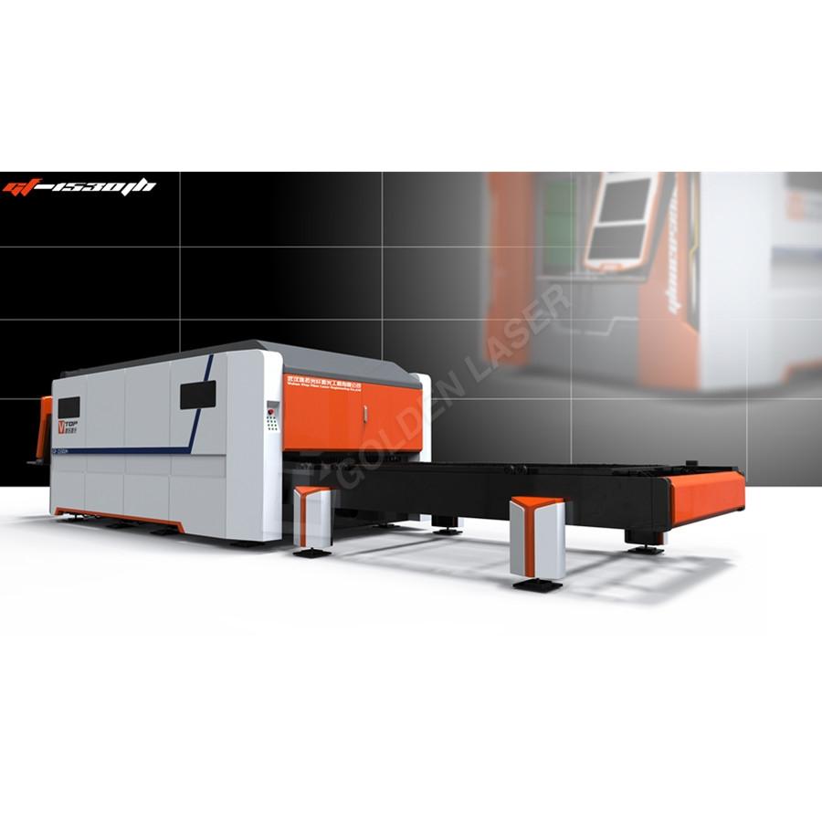 1500w 2500w Full Closed Pallet Table CNC Fiber Laser Metal Sheet Cutting Machine