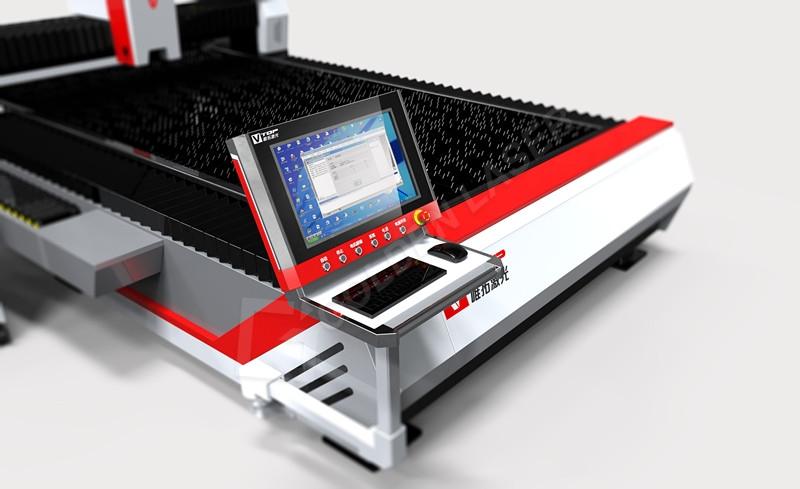 Open Type Fiber Laser Cutter For Stainless / Carbon steel / Aluminum / Brass