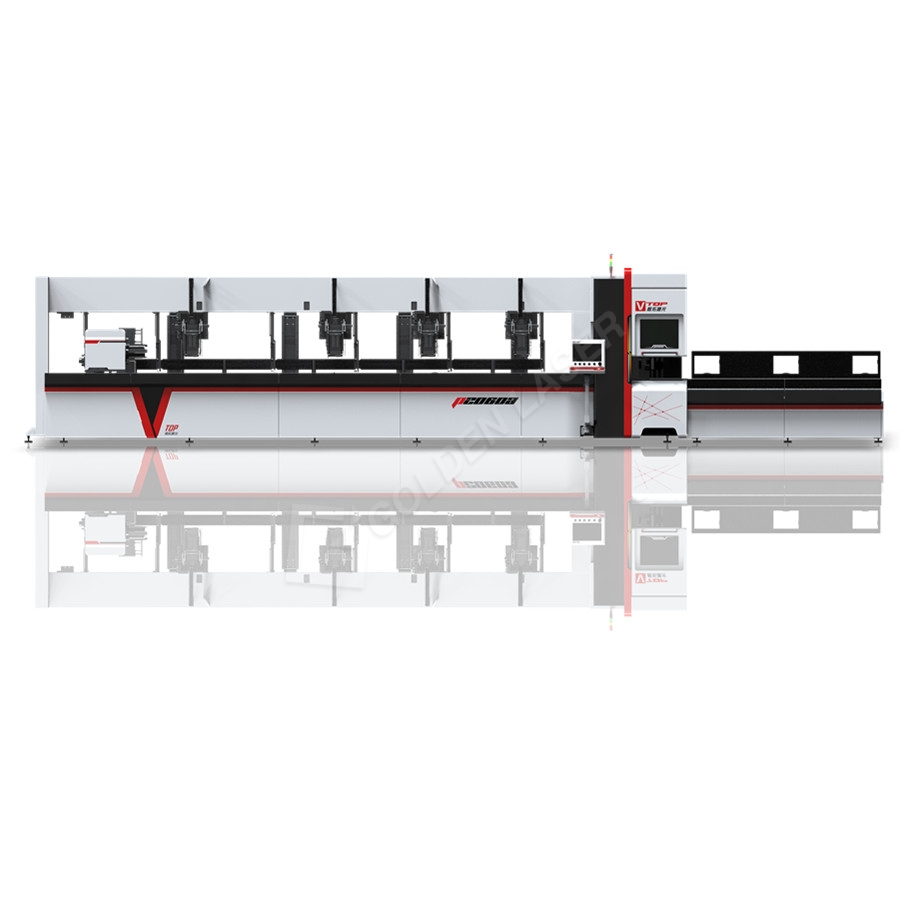 Intelligent fiber laser pipe cutting machine for metal steel