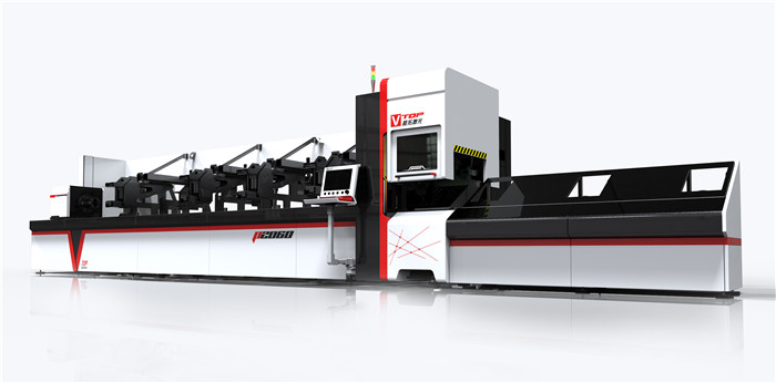 P3080A Automatic Bundle Loader Fiber Laser Metal Tube / Pipe Cutting Machine
