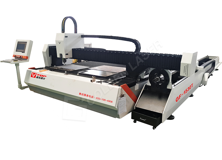 OEM Supply Air Slitting Beading Machine - 1500w Dual Function Fiber Laser Sheet & Tube Cutting Machine GF-1530T – Vtop Fiber Laser