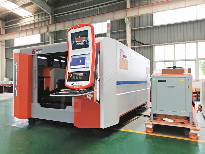 Discount Price Cnc Laser Cutting Pipe Machine - 2500W Full Closed Fiber Laser Cutting Machine With Dual Exchange Table – Vtop Fiber Laser