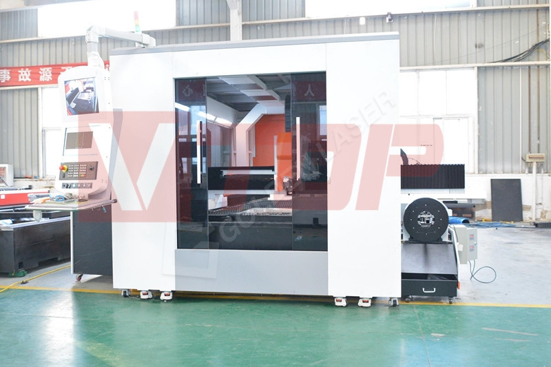 8 Year Exporter Double Head Laser Fabric Cutting Leather - 3000w Hot Sale Enclosed Pallet Table Fiber Laser Tube And Sheet Metal Cutting Machine GF-1530JHT – Vtop Fiber Laser