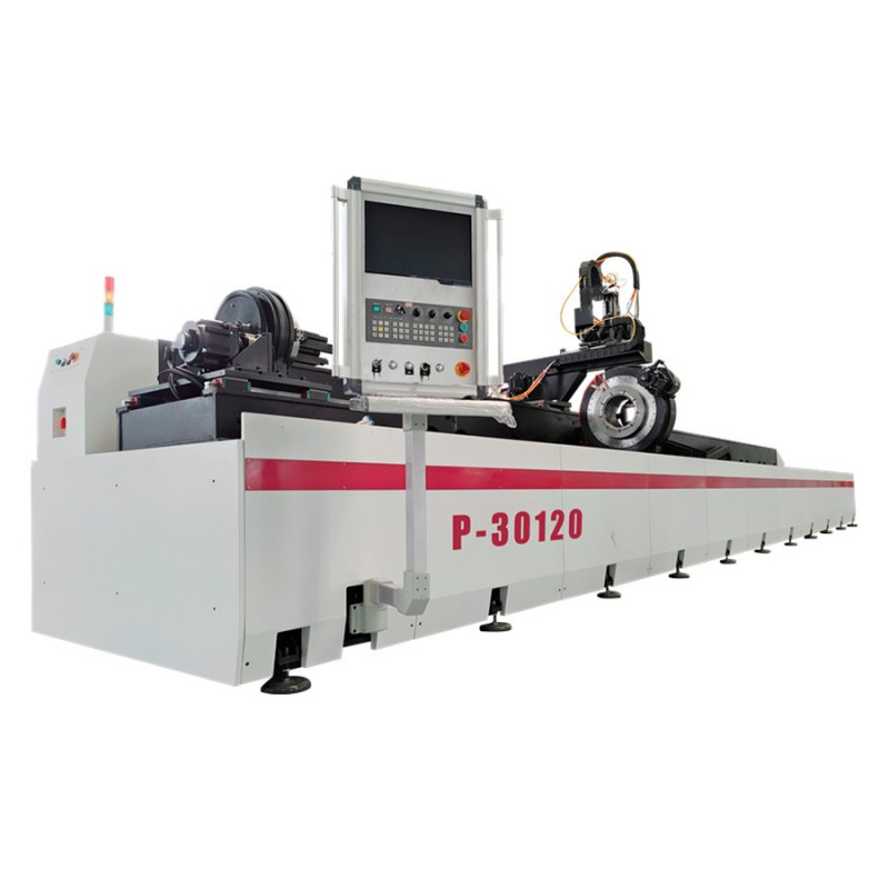 P30120 Pipe & Tube Laser Cutting Machine For Heavy Machinery And Steel Structure