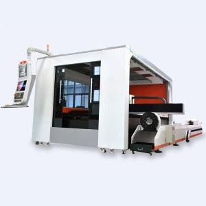Full Closed Pallet Changer Fiber Laser Pipe and Sheet Cutting Machine