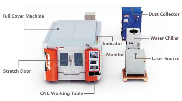 4000w 6000w 8000w fiber laser cutting machine
