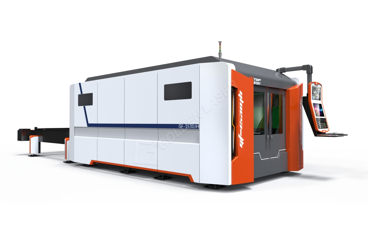 High Power Whole Cover Fiber Laser Cutting Machine With BECKHOOF Controller