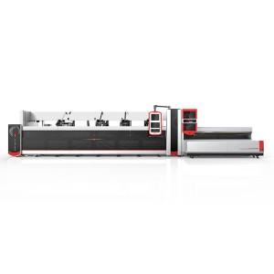 2500W 3000W fibra di metallo del laser tagliatrice Per Tondo, Tubo quadrato / tubo