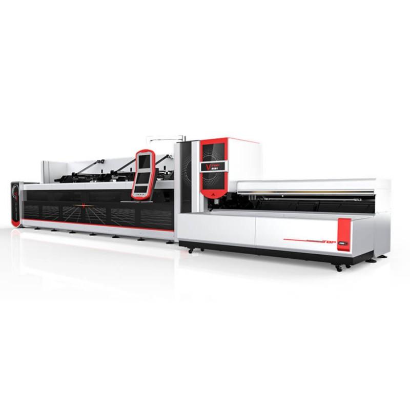 2500w 3000w Faser -  Laser -  Metall -  Schneidemaschine für runde, quadratische Rohr / Rohr