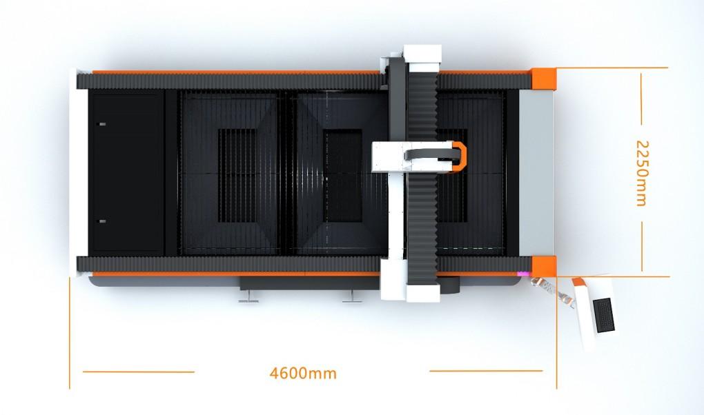 compact design laser cutting machine