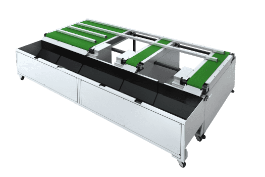 conveyor collection table for finished tube
