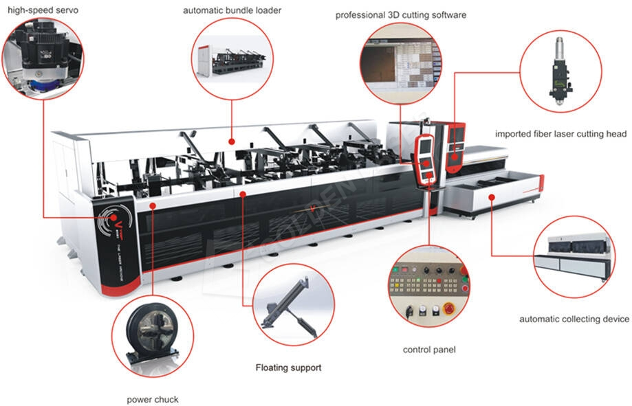fiber-laser tube cutting machine