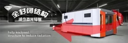 full closed design laser cutting machine