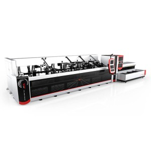 3000w 4000w Fully bide Fiber Laser Pipe Machine Cutting Ji bo Machinery giran