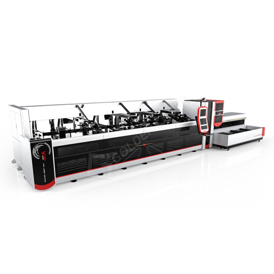 3000w 4000w Fully Automatic Fiber Laser Pipe Cutting Machine For Heavy Machinery Featured Image