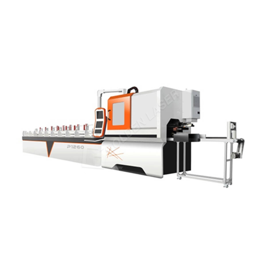 Metal Round Tube Fibra Laser Cutting Machine P120