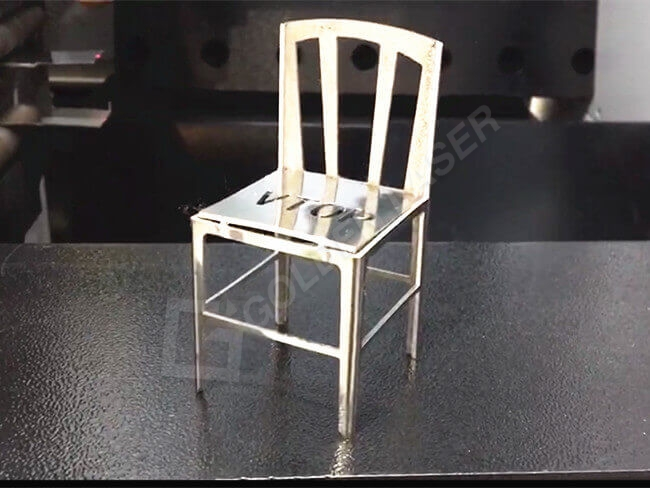 metal chair cutting