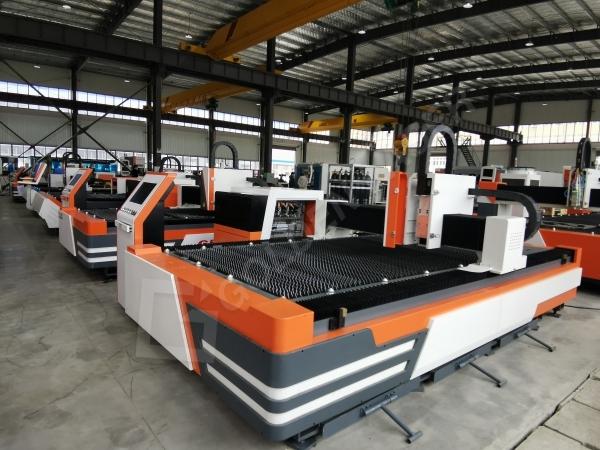 metal sheet laser cutting machine in factory
