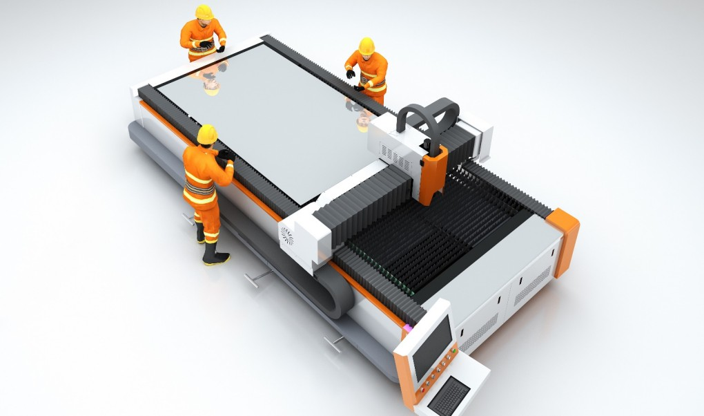 open table fiber laser cutting machine