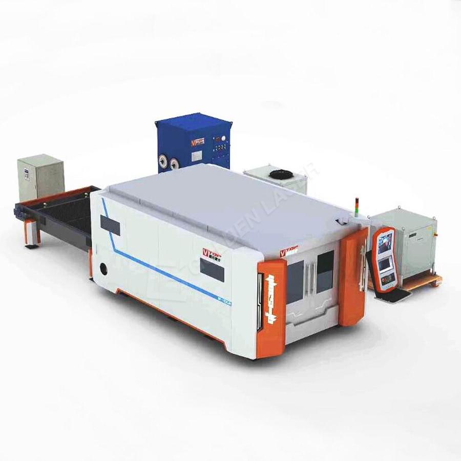 2500w 4000w 6000w 8000w Fiber Laser Sheet Cutting Machine