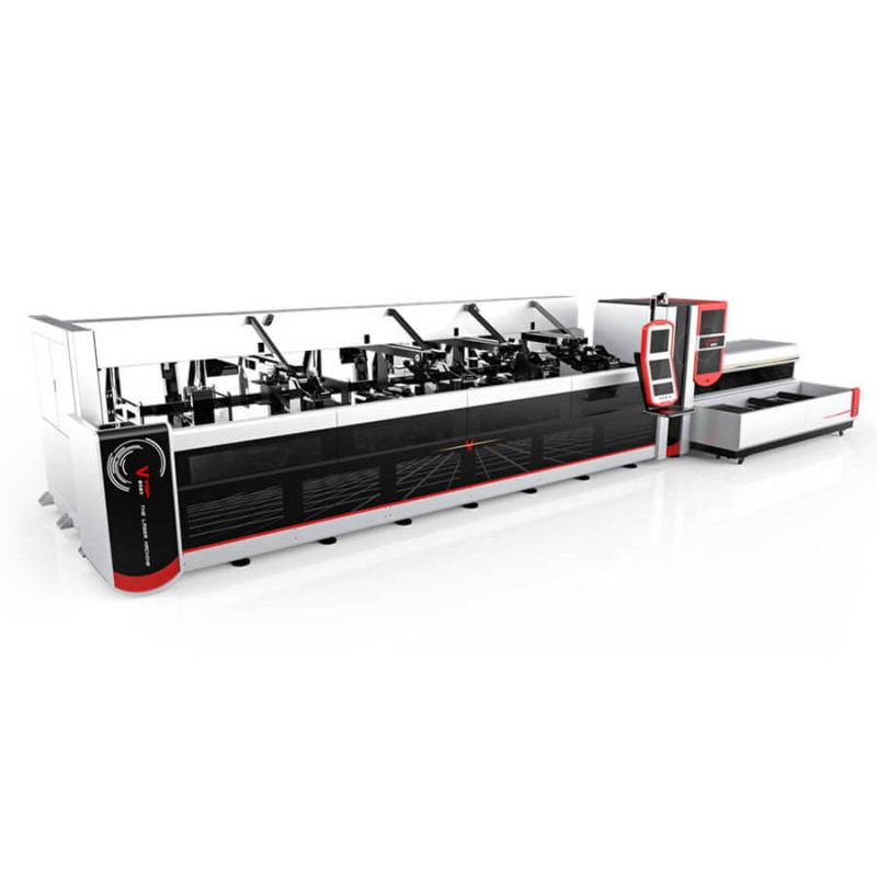1500w 2500w Fully Automatic Bundle Loader Fiber Laser Tube Cutting Machine