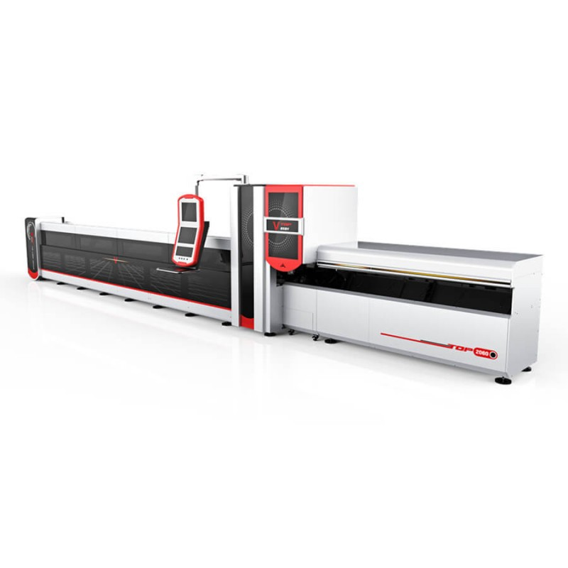 3000W Cnc Fiber Laser ຮອບ Square Rectangular Tube / Cutter Laser ທໍ່